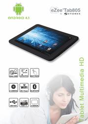 Storex Tab805 8GB TA24609 Leaflet