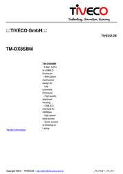 Tiveco TM-DX8SBM Leaflet