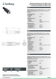 Lumberg LUM-KLK4 KLK 4 Data Sheet