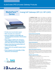 Audiocodes MediaPack 114 MP-114/FXS/AC-3 Leaflet