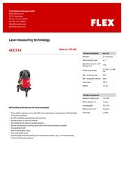 Flex ALC 514 329.460 Leaflet