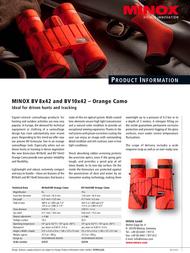 Minox BV 10x42 BR 62038 Leaflet