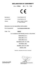 Homematic 76785 Wireless switch interface 3-channel Max. range (open field) 100 m 76785 Declaration Of Conformity