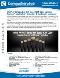 Comprehensive Pro AV/IT, 25ft HD-HD-25PROBLKA Leaflet