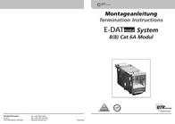 BTR NETCOM E-DAT modul Cat.6A 8(8) 130910-I User Manual