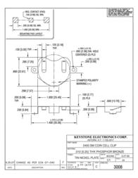 Keystone , CR2450 Coin Cell Holder, SMT 3008 Data Sheet