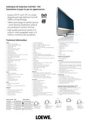 LOEWE Individual 40 Selection Full-HD+ 100 67442B80 Leaflet