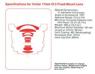 Vega 28 120 mm f/ 2.8 Lens Instruction Manual