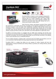 Genius ErgoMedia R800 31340112102 User Manual