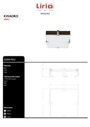 Lirio by Philips KWADRO 32504/70/LI Leaflet