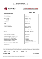 Velcro tape sew-on Hook pad (L x W) 25 m x 100 mm Black Velcro 25 m E00110033011425 Data Sheet