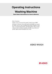 Asko W6424 Installation Instruction