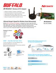 Buffalo WLI-PCI-G300N Wireless-N Desktop PCI Adapter WLI-PCI-G300N-3 Leaflet