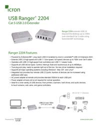 Icron USB Ranger 2204 00-00257 Leaflet
