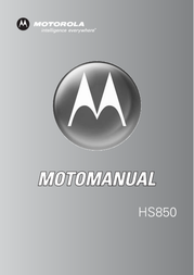 Motorola Bluetooth® headset HS850 HS-850 Manual