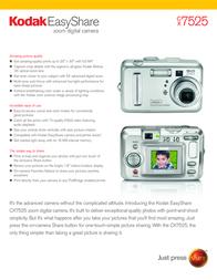 Kodak EASYSHARE CX7525 3915683 Leaflet