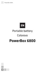 Colorovo Power box 6800 CVP-PB-6800-YL User Manual