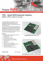 Triax TDX Backend - QAM (FTA) 492055 Leaflet