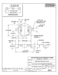 Keystone , CR2354 Coin Cell Holder, SMT 3010 Data Sheet