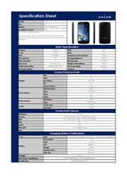 Kazam Thunder Q4.5 1F60014 Leaflet