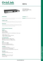 OvisLink GSH-16 Leaflet