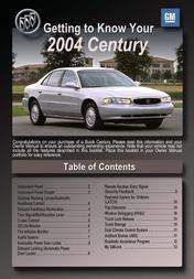 Buick Automobille 2004 Century User Manual