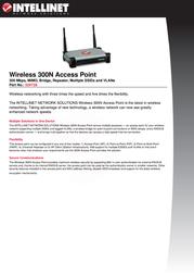 Intellinet Wireless 300N Access Point 524728 User Manual
