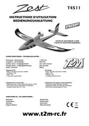T2m remote control ARF 1420 mm T4511 Data Sheet