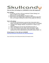 Skullcandy Lowrider Leaflet