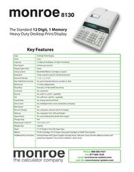 Monroe 8130 Leaflet
