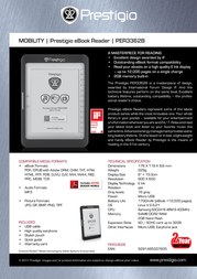 Prestigio eBook Reader PER3362B PER3362B Leaflet