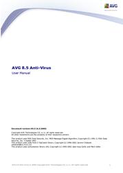 AVG Anti-Virus 8.5 - 2 lic. - ext. 2 year AAV8N24OCZK002 User Manual
