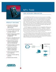 Adtran Network Cable, 1xCentronics, 1xCentronics, 5ft 3353004 Leaflet