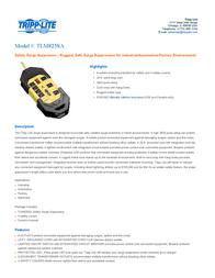 Tripp Lite TLM825SA Safety Surge Suppressor TLM825SA User Manual