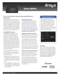 Drobo B800fs DR-B800FS-4A31 Data Sheet
