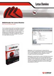 Bitdefender for Lotus Domino, 10-24 nodes, 1 Year 203040A Leaflet