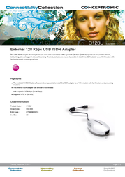 Conceptronic 128 KBPS (2X64 KBPS) USB I C02-003 Leaflet