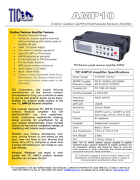 TIC Corporation AMP10 Leaflet