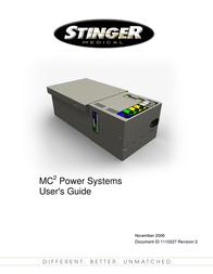 Stinger MC POWER SYSTEM MC2 User Manual