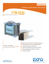 EXFO Photonic Solutions Div. FTB-5230 Manual De Usuario