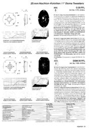 Visaton VS-G25FFL/8 1175 Data Sheet