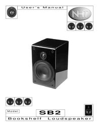 NHT SuperAudio SB2 User Manual