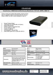 Vosstronics VTG-AX31U3S Leaflet