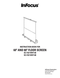"Infocus Floor Standing Screen 60"" Diagonal, 4x3 Video Format, White SC-FLRWHT-60 User Manual"