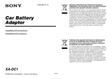 Sony xa-dc1 User Manual