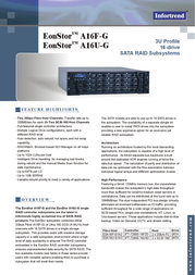 Infortrend A16F-G1A2 FC-to-SATA RAID Subsystem A16F-G1A2-M1 Leaflet