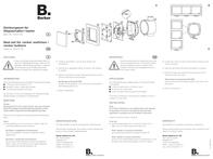 Berker Accessories Gasket set Q.3, Q.1, K.5, K.1 Transparent 10107100 10107100 Data Sheet