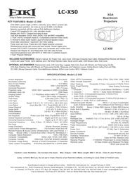 EIKI LC-X50 User Manual