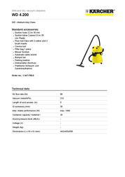 Kärcher WD 4.200 1.347-700.0 User Manual