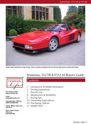 Ferrari Automobile F512M User Manual